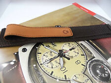 Sector Compass Dark & Light Brown Canvas Strap Made For The Compas Collection
