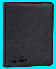 ULTRA PRO 9 POCKET PREMIUM  LEATHERETTE BLACK BINDER STORAGE 360 Card 20 Pages