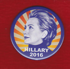 "Psychadelic Retro Hillary For President"" 2016 Campaign Picture Pin"