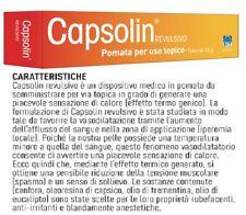 CAPSOLIN REVULSIVO POMATA ALLEVIA DOLORI NEVRALGICI ARTICOLARI MUSCOLARI