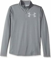 Under Armour 1/4 zip pullover shirt NWT boys' M YMD gray $35