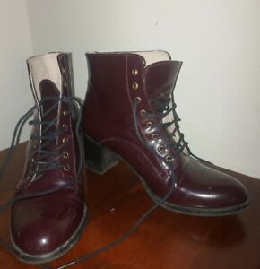 Hobbs Lace-up Ankle Boots size 6 39 OXBLOOD LEATHER