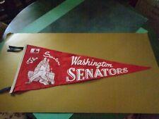 """Vintage Washington Senators 1969 Baseball Pennant (29""""x11.25"""""""
