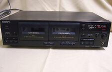 Sony Tc-Wr445 Dual Stereo Auto Reverse Cassette Deck Dolby Bc Nr Hi Density Head