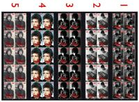 BOB DYLAN AMERICAN ICON SET OF 5 MINT VIGNETTE STAMP STRIPS