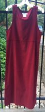 NWT Womens Cranberry Red Pin Wale Corduroy Long Maxi Jumper Dress Size 8