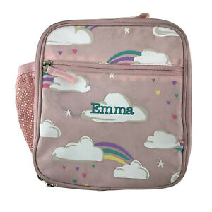 Pottery Barn Kids Classic Lunch Box Pink Rainbow Emma Monogramed Insulated