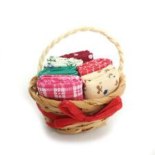Dollhouse Cloths Basket 1:6 Model Accessories Miniature Decoration