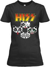 Hiss Kiss Cats Kittens Rock - Gildan Women's Tee T-Shirt