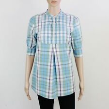 Jack Wills Womens Size 8 Blue Check Loose Fit Dress