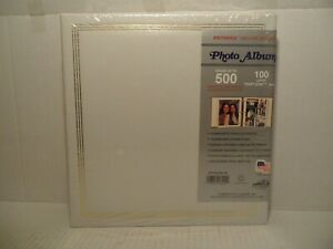 """Vintage White Pioneer Deluxe Cover 500 Photo Album TR-100 Up To 8""""x10"""" NEW"""