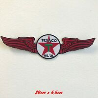 Texaco Logo with Wings Iron on Sew on Embroidered Patch applique #1753