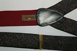 TRAFALGAR Blue & Gold Color Suspenders Braces Adjust