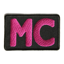 Embroidered Pink MC Motorcycle Club Sew or Iron on Patch Biker Patch