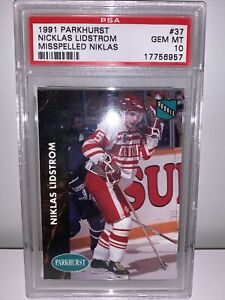 PSA 10 GEM MINT 1991 Parkhurst NIKLAS LIDSTROM RC HOF Goat NHL Legend LOW POP
