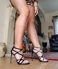 Kurt Geiger carvela Negro Super Sexy Zapatos Talla Uk 7/40