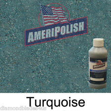 1 GL. Turquoise CONCRETE COLOR DYE 4 CEMENT, STAIN AMERIPOLISH Solvent based