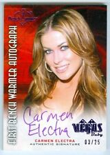 "CARMEN ELECTRA ""VEGAS BABY AUTOGRAPH CARD #03/25"" BENCHWARMER TREASURE CHEST"