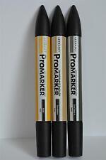 3 Pk Gold, Sandstone, CGrey4 Letraset Promarker Scrapbook Image Stamp Marker Pen