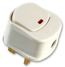 4 PACK 13AMP 3PIN SWITCHED FUSED PLUG WITH NEON