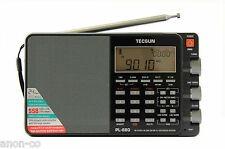 TECSUN PL-880 PLL Multi Conversion AM/FM/LW/SW SSB Radio    BLACK - MATTE
