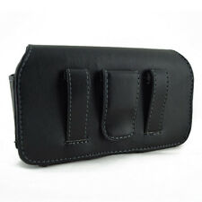 Cell Phone Leather Cover Carrying Case Pouch Side Clip Holster - Samsung Focus 2 I667 by ATT