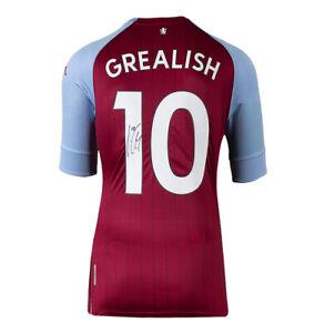 Jack Grealish Signed Aston Villa Stadium Shirt - 2020-2021, Number 10