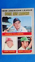 1970 Topps Reggie Jaclson 1969 A.L, Home Run Leaders Baseball Card #66