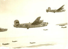 Org. Photo: Aerial View Formation of 461st Bomb Group B-24 Bombers on Mission!!!