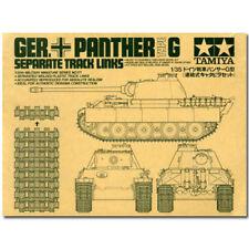 TAMIYA 35171 Panther G Separate Track Link militaire 1:35 Modèle Kit