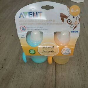 Philips AVENT Soft Spout Non Spill 200ml 6m+ Sippy Cups 2 Pack
