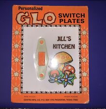 Personalized Glo Vintage Light Electric Switch Plate - Jill