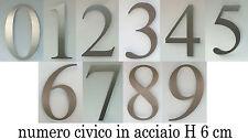 NUMERO CIVICO IN ACCIAIO - h 6 cm