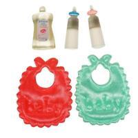 1:12 Dollhouse Miniature Toy baby Milk Bottle Set Christmas Cute
