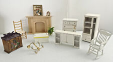 Bedroom Furniture, Fireplace, Chairs, Toy Box, Side Board, and Accessories
