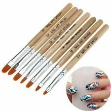 7PCS/Set New Acrylic Nails Gel Tools 3D Nail Art Brush Acrylic Nail Brushes Pen