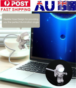 Mini Spaceman Astronaut  LED Night Light Keyboard Lamp USB Port Table Light