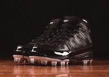 Nike Air Jordan 9 MCS BLACK RE2PECT WHITE AA1264-011 sz 15 BASEBALL CLEATS SHOES