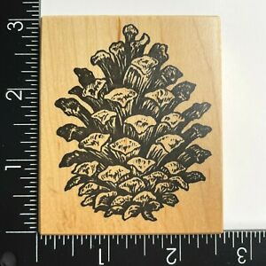 PSX Designs Pinecone G1956 Wood Mounted Rubber Stamp