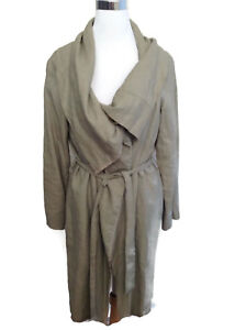 STELLA MCCARTNEY Coat Jacket 40 Gray Long Big Collar Peplum LS Asymmetrical