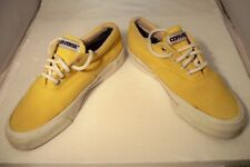 Vintage 80's Converse Made In USA Skid Grip Yellow Canvas Shoes Men Size 5