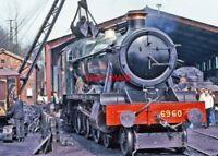 PHOTO  GWR LOCO NO 6960 AT  BEWDLY 1980'S