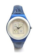 """Collectible """"Babe"""" the Pig Unisex Watch/Quartz Analog/Blue Leather Band."""