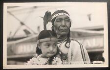 Mint Canada RPPC Postcard Native American Indian Calgary Stampede Blackfoot