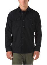 VANS Mens Newell Heavyweight LS Button up Shirt Black Size Medium Ship
