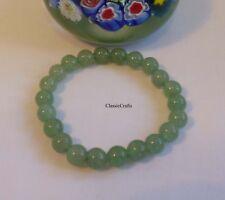 Genuine natural Green Dongling 6mm jade bracelet adjustable length
