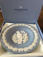 *Wedgwood Wedgewood Jasperware Blue Parrot Plate Tray Dish New In Box*Free Ship