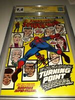 2x Signed AMAZING SPIDERMAN 121 CGC SS 9.4 JOHN ROMITA & CONWAY DEATH GWEN STACY