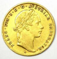 1855-A Austria Franz Joseph Gold Ducat Coin - AU Details - Rare Coin!