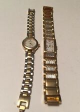 Lot Of 2 Gold & Rhinestone Relic Ladies Beautiful Watches